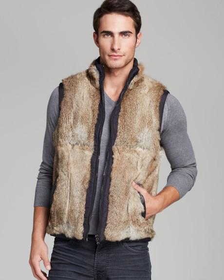 Michael Kors reversible fur vest
