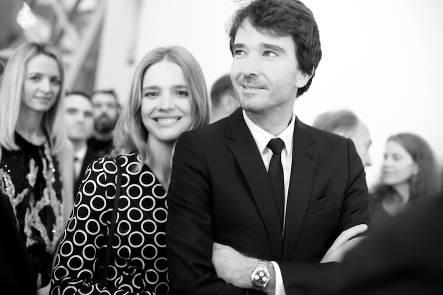Natalia Vodianova and Antoine Arnault at the Fondation Louis Vuitton opening.
