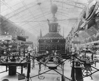 Photo of the Exposition Edison at the 10th World Fair in Paris, 1889.