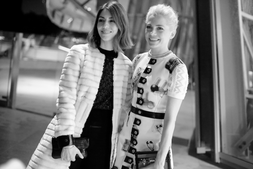 Sofia Coppola and Michelle Williams attend the Fondation Louis Vuitton opening