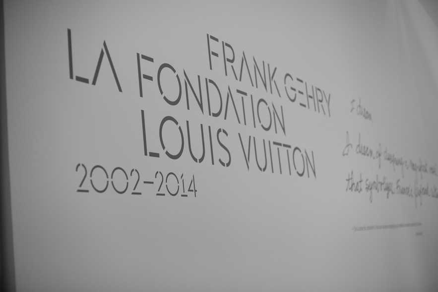 Exhibition on the  Fondation Louis Vuitton building designed by Frank Gehry