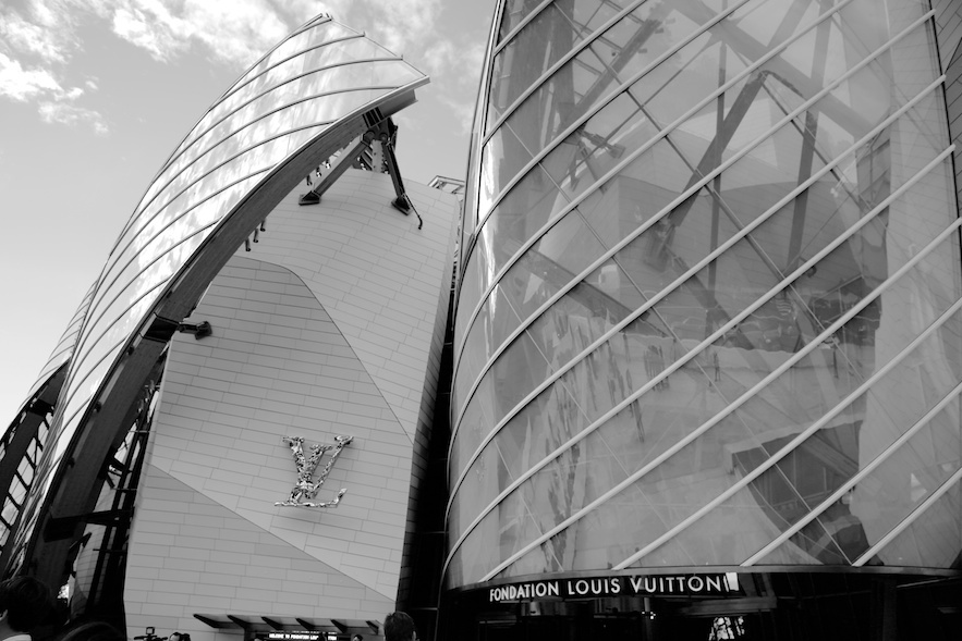 The Fondation Louis Vuitton building, designed by Frank Gehry