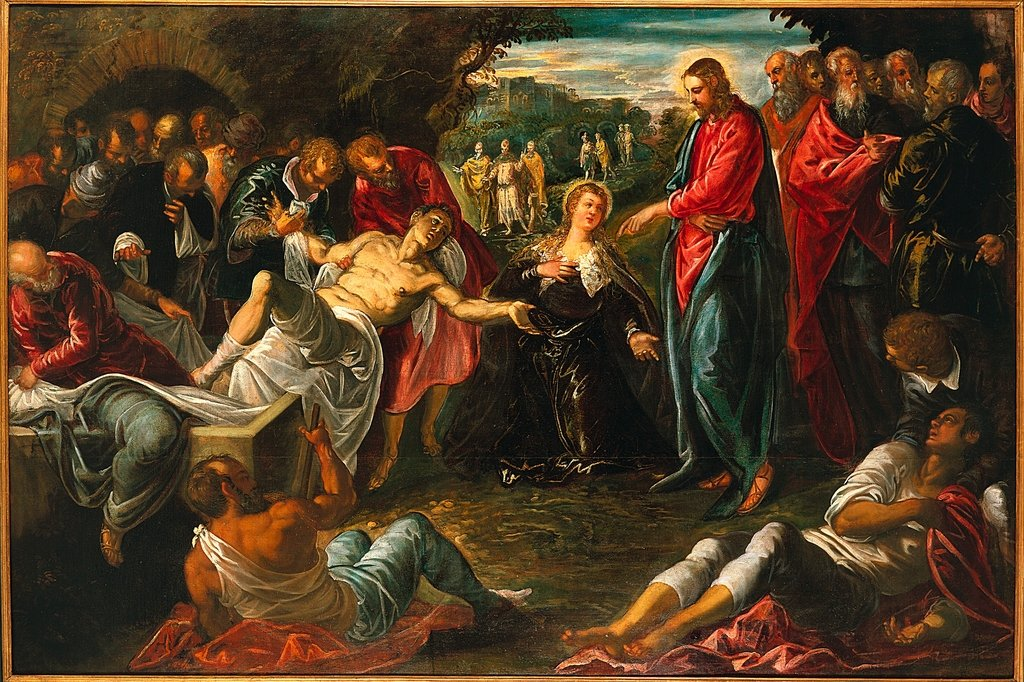 """The Raising of Lazarus"" by Jacapo Tintoretto, 1558."