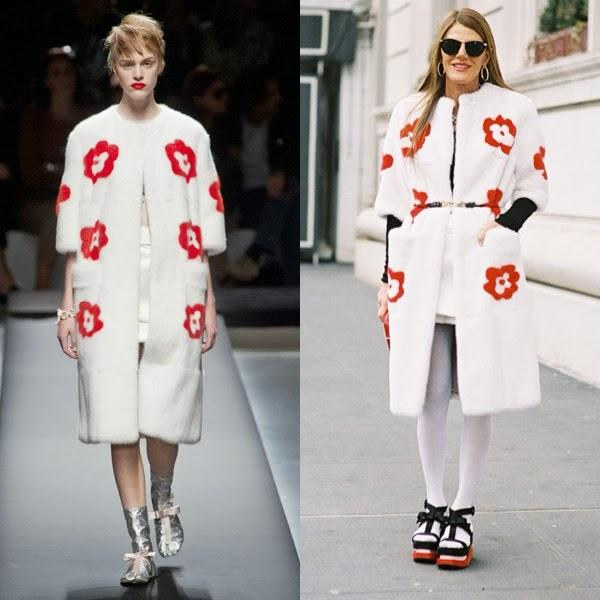 Who wore it best? Anna Dello Russo in a Prada fur coat