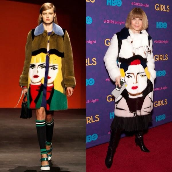 Who wore it best? Anna Wintour in a Prada fur coat