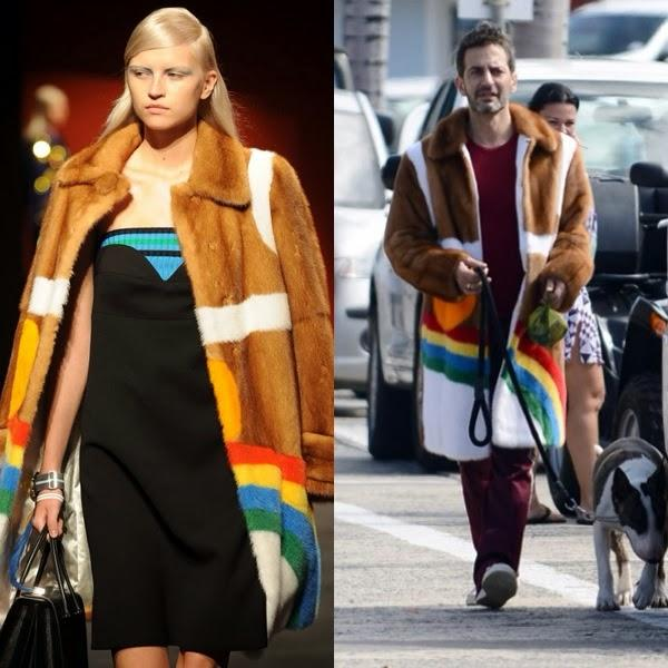 Who wore it better? Marc Jacobs in Prada - Colorful Fur Fashions