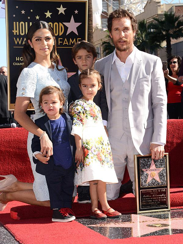 Matthew McConaughey and family dressed to the nines as he received a star on the Hollywood Walk of Fame