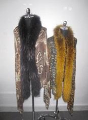 Adrienne Landau raccoon trim pashmina ($495)