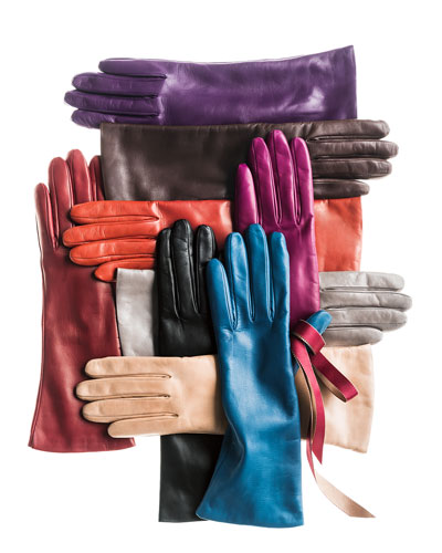 Cashmere-Lined Leather Gloves ($140.00) by Portolano