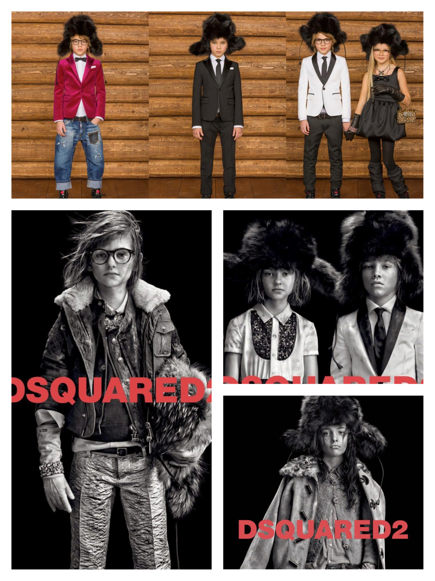 "DSquared2 Fall/Winter 2014-15 collection and ads which stated that ""Cool kids wear DSquared2"""