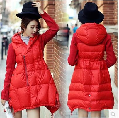 Down coat for expecting mother and fashion forward girl about town