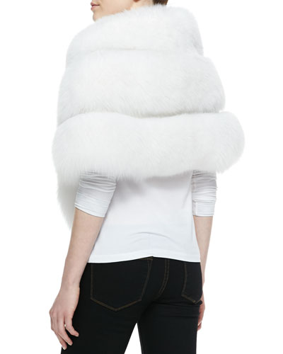 Fox Fur Stole with Leather Insets ($2,500.00) by Gorski