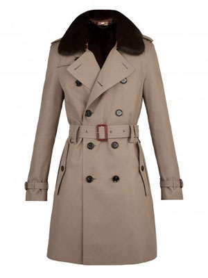 Fur Collar Heritage Trench Coat ($2,295) by Burberry London