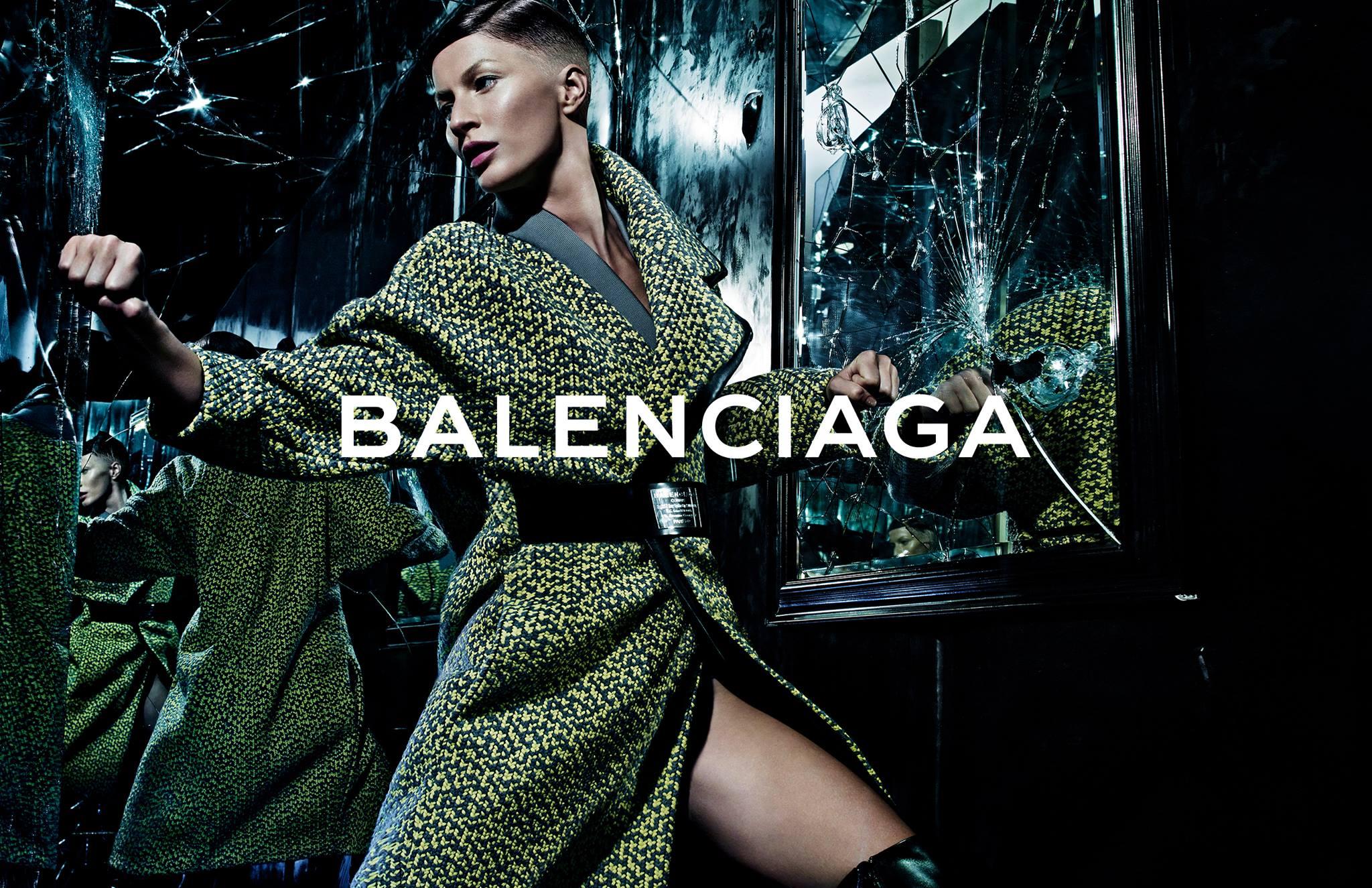 Gisele Bündchen in Balenciaga - Fall Winter 2014-2015 Campaign photographed ny Steven Klein