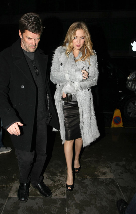 Kate Hudson looks sophisticated in her greys while out for the evening.