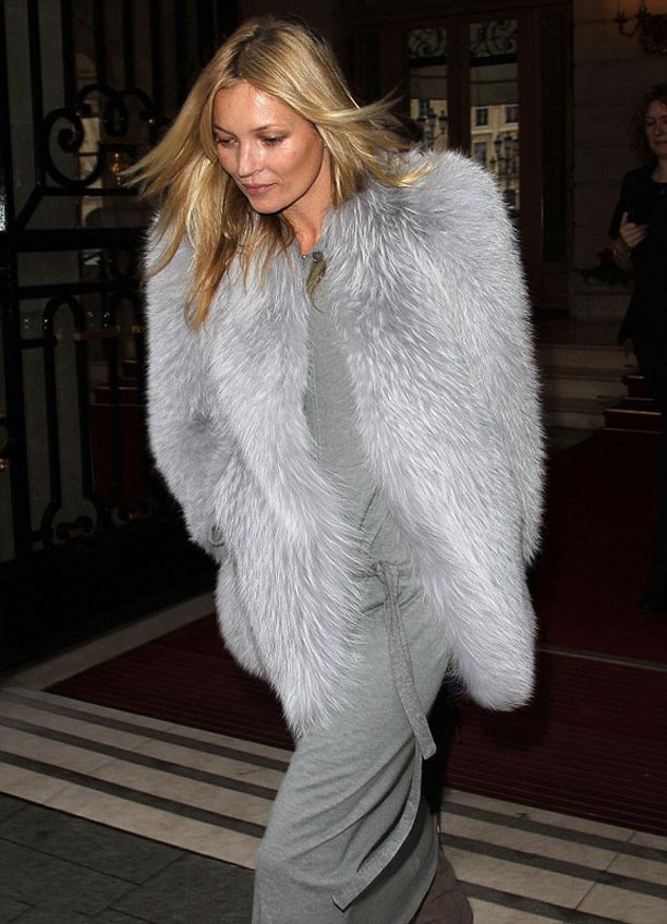 Kate Moss is a grey fox