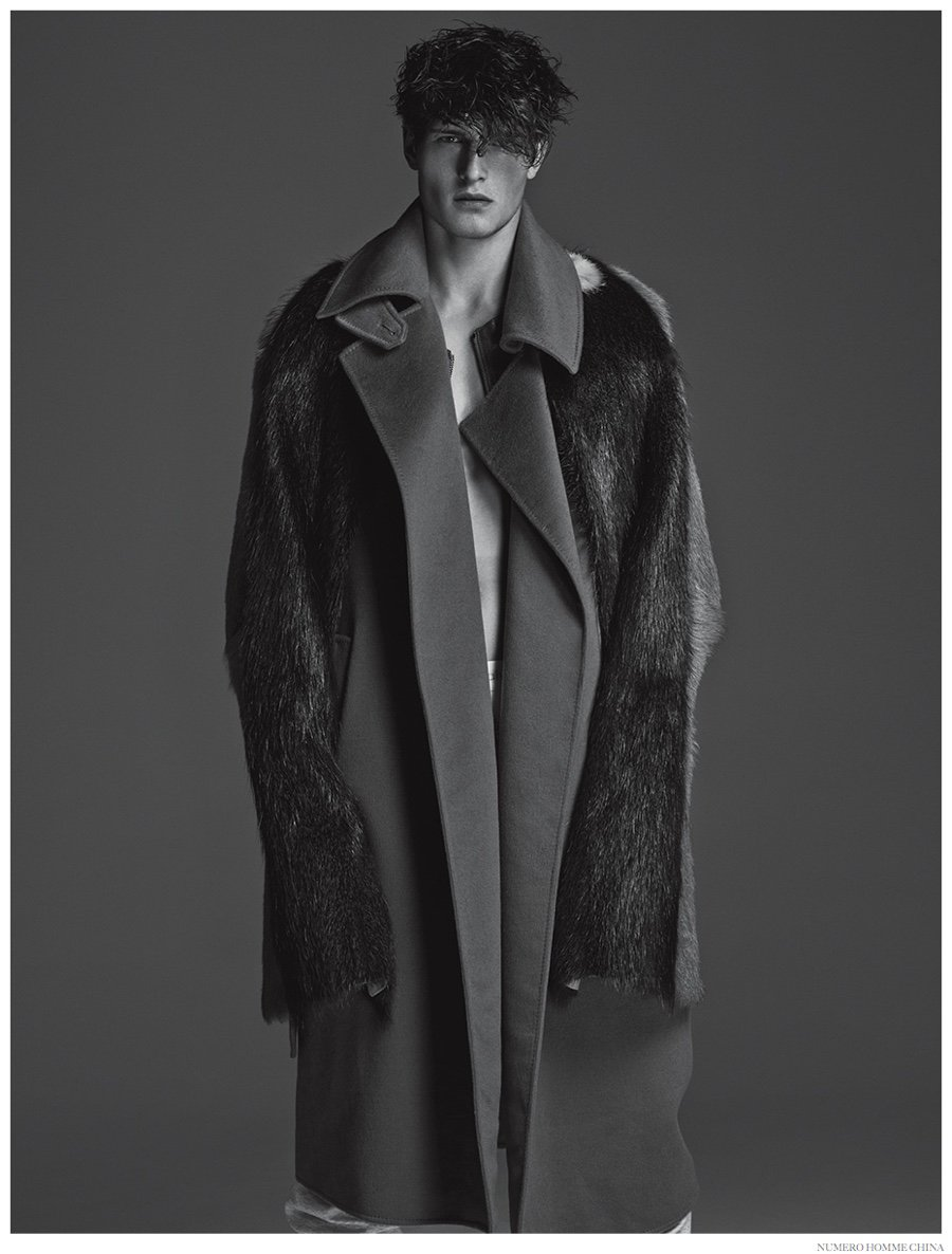 John Todd in Numero Homme China, fall-winter 2014 edition