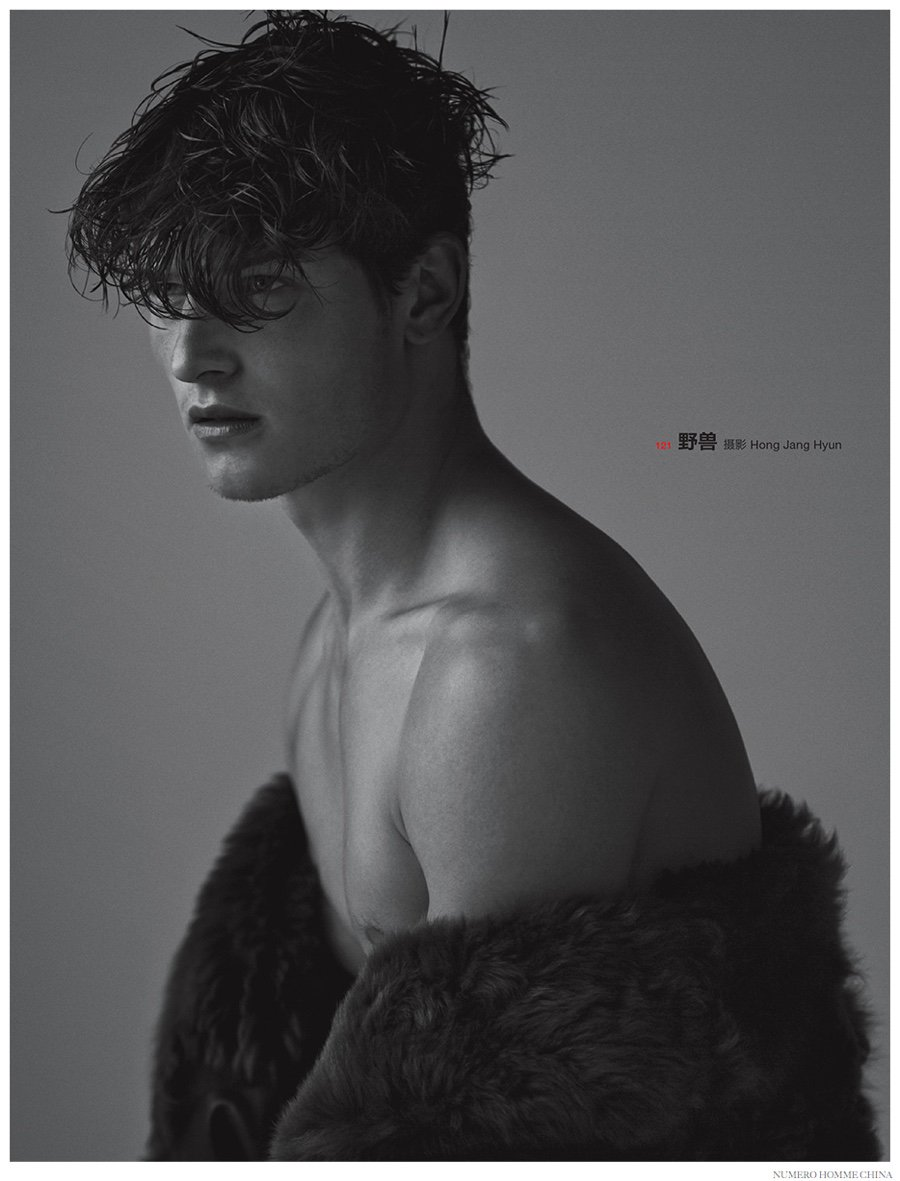 John Todd stars in Numero Homme China, fall-winter 2014 edition