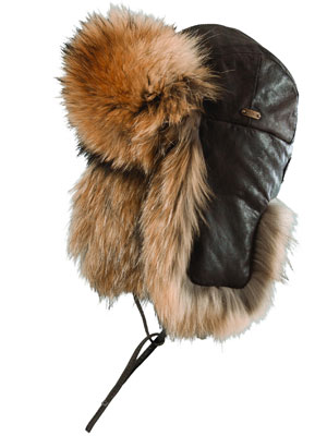 Leather and Raccoon Fur Trapper ($495)