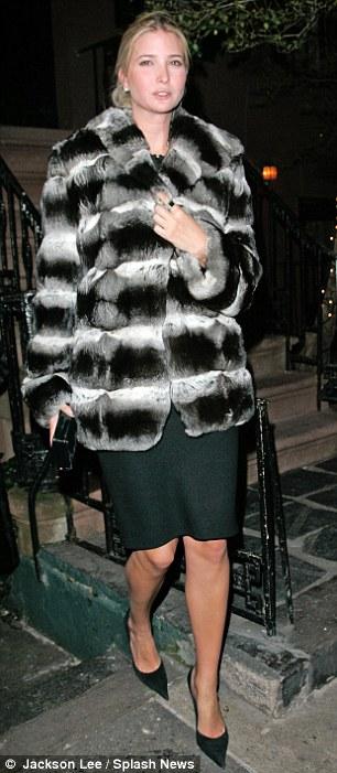 Like her mother Ivana, Ivanka Trump favors chinchilla
