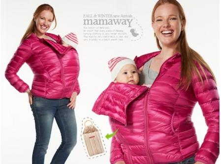 Maternity and Nursing down jacket by MAMAWAY