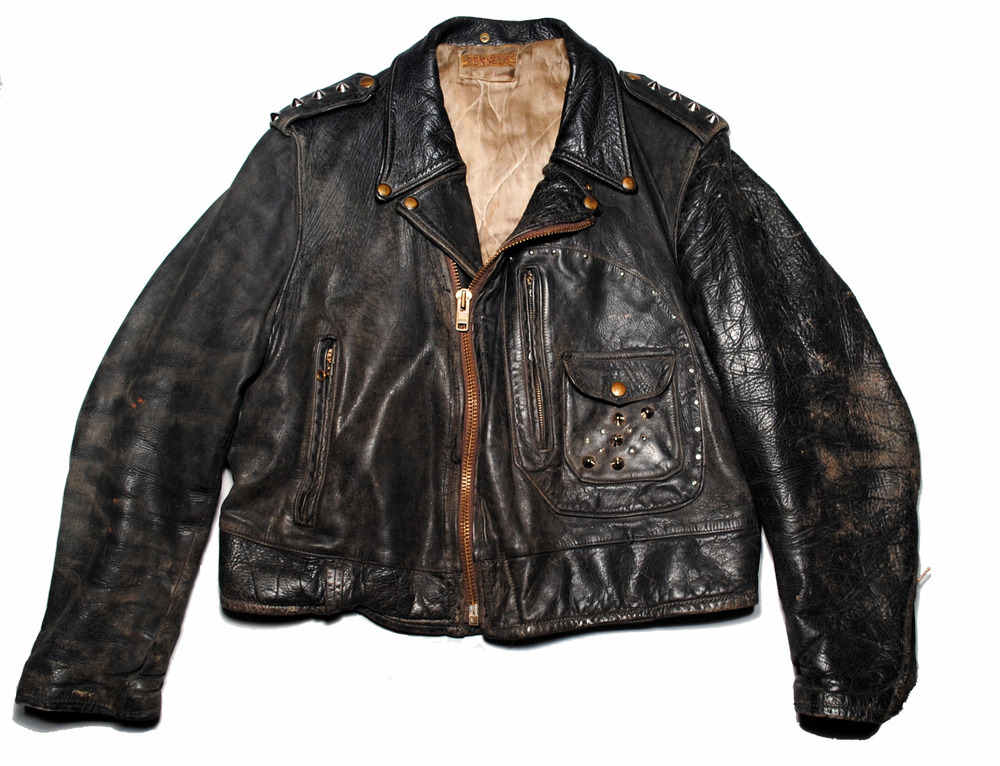 PENNEY'S horsehide leather D pocket motorcycle jacket, 1950s (TheQualityMendingCo.com)