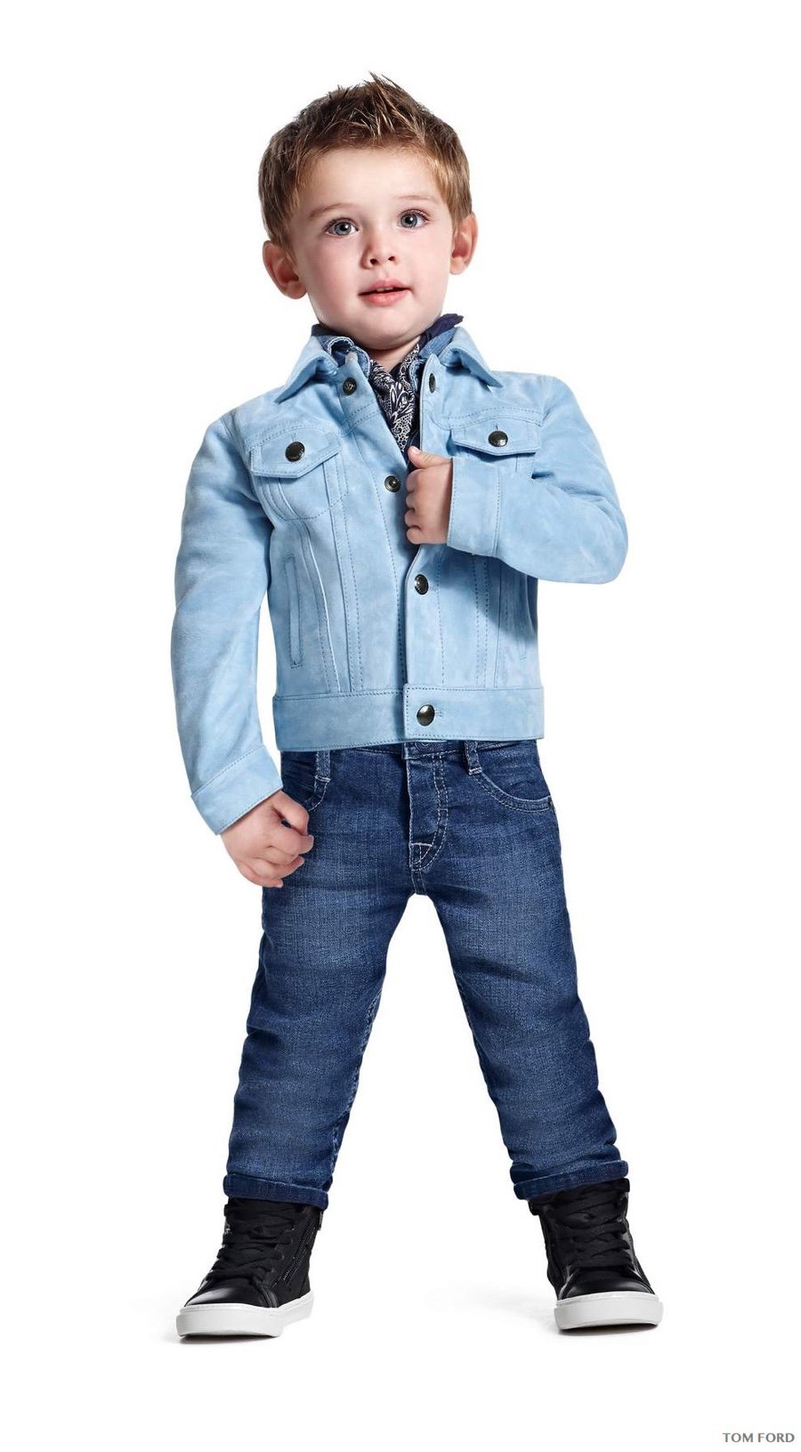 Tom Ford - Pale blue denim jacket in lightweight suede ($2,960)