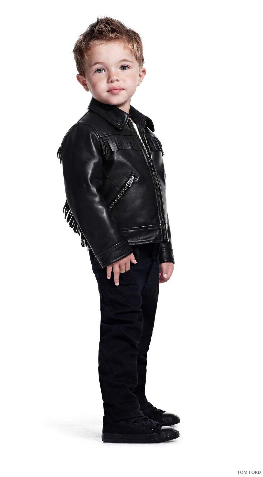 Tom Ford  -  Fringe biker in rubbed plonge ($3,990)