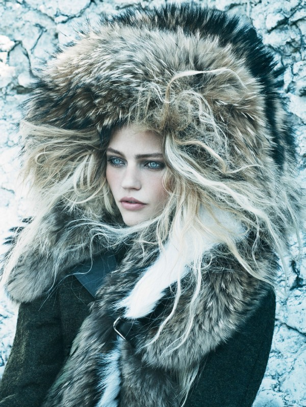 Many of the fall 2014 editorials are featuring models bundles and cocooned in Nordic inspired fur looks
