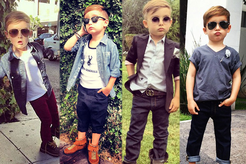 Pint-sized blogger sensation  Alonso Mateo thrills followers with his daily designer looks