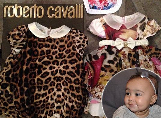 Just some of the designer duds owned by baby North West