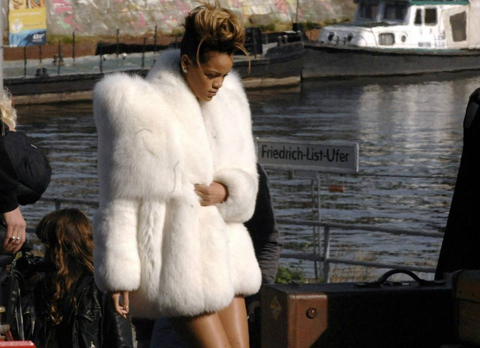 Style maven Rihanna rocked this look with little else