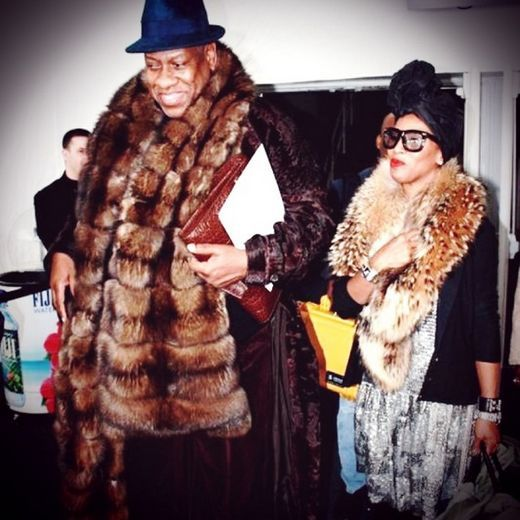 June with fashion great Andre Leon Talley