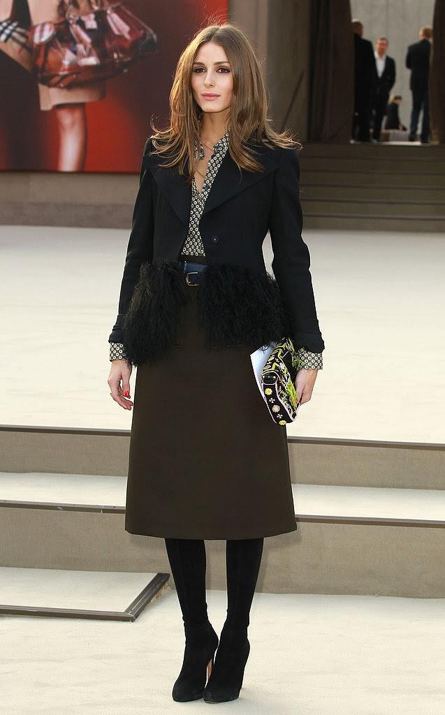 Purveyor of style, Olivia Palermo, sported a chic fur trim blazer by Armani