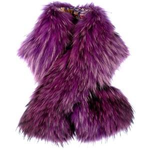 ETRO magenta  Finn raccoon scarf