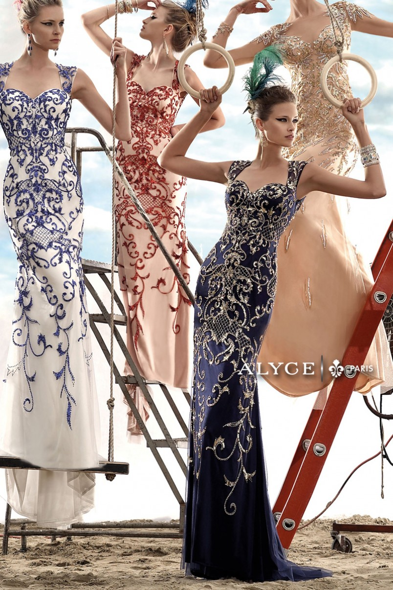 Embroidered gowns for special occasions are making a huge comeback (www.AlyceParis.com)
