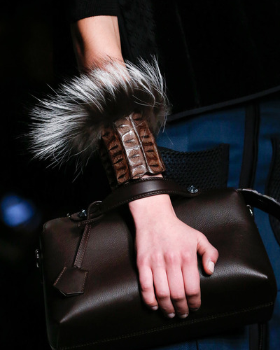 Fendi fur and leather bracelet Fall 2014 - Winter 2015