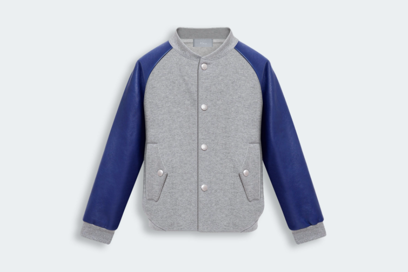 Fleece and Leather Jacket for boys - Baby Dior - Fall 2014-Winter 2015