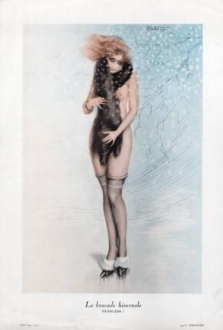 """""""La Bravade Hivernale, Fearless"""", Gaston Cirmeuse, 1926 (Eros)"""