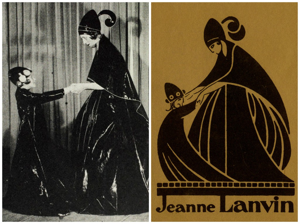 This photograph of Jeanne Lanvin and her daughter, Marguerite inspired the Lanvin Logo.
