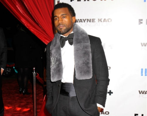A fur scarf is the perfect way to add polish to any tuxedo