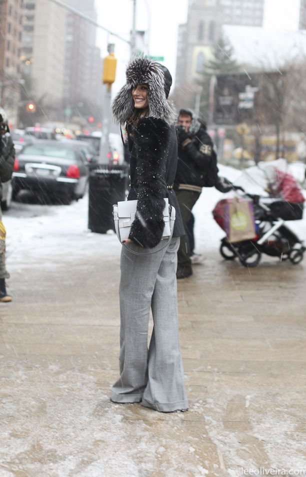 No matter the weather, Olivia palermo is always ready-styled