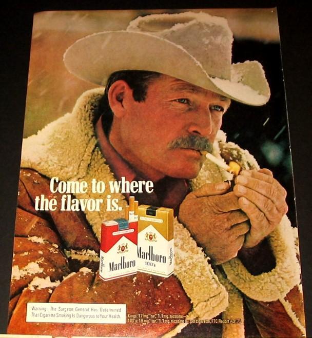 The iconic Marlboro Man