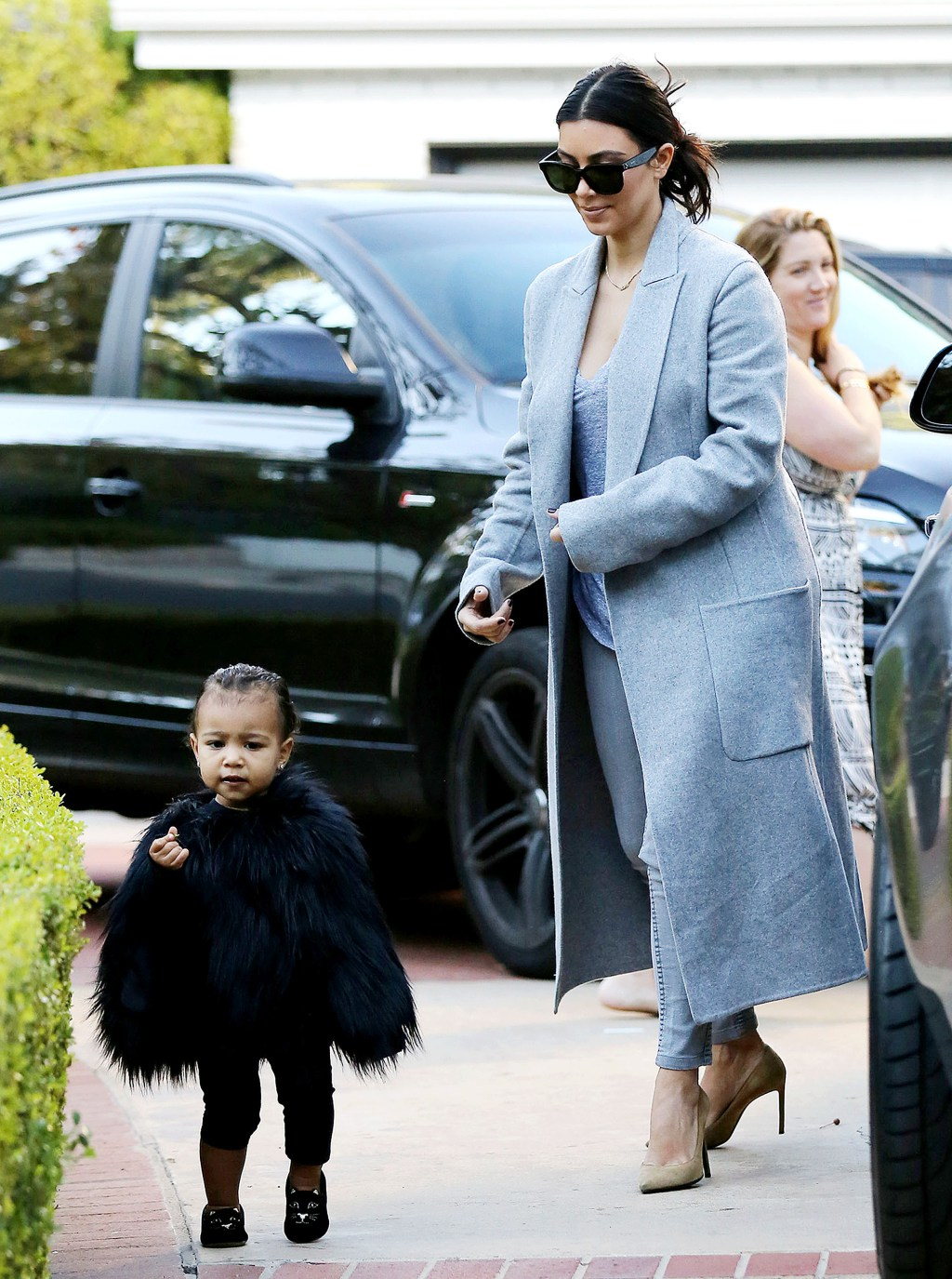 Little North West is a vision in her fur