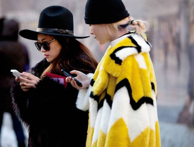 Recent fur style from the streets for the fall 2014 season