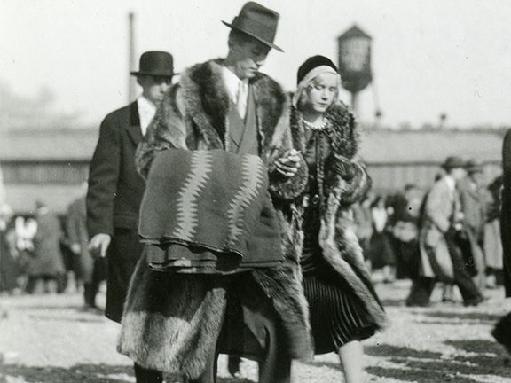 The ubiquitous 1920s fur coat: His & Hers