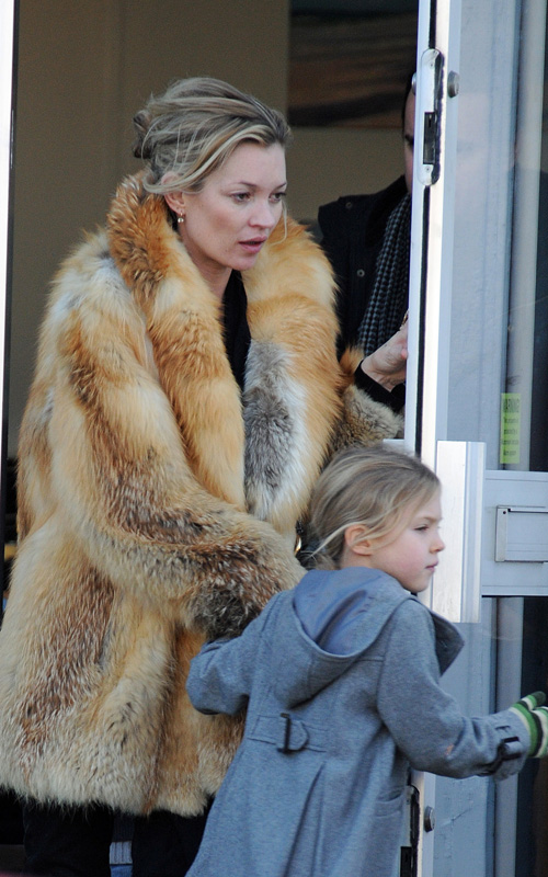 Kate Moss and daughter out for stroll