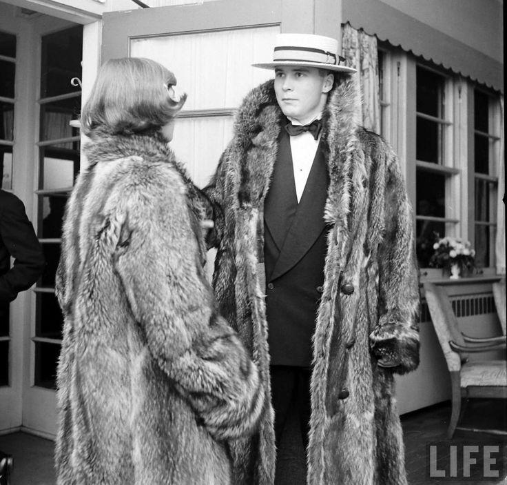 1950s Raccoon coat revival by the elite collegiate set (Life Magazine)