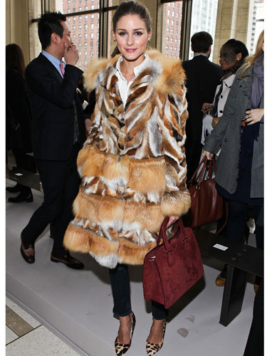 Socialite and style icon Olivia Palermo effortlessly demonstrates how to make classic elegance fresh, youthful and hip with fur