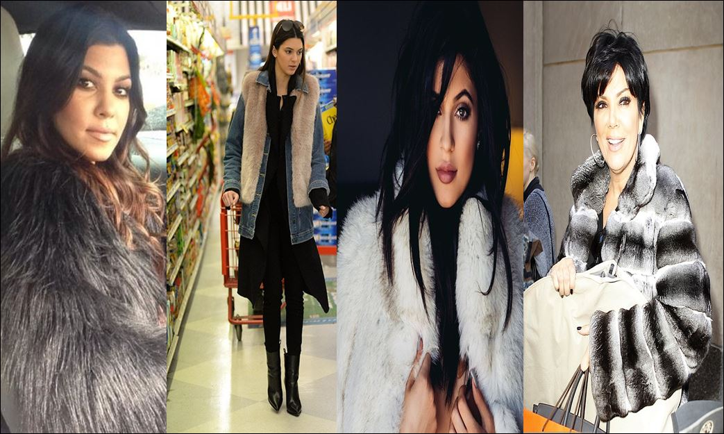 The Kardashian/ Jenner ladies all wear fur often to punctuate their very addictive style